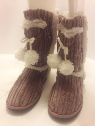 """NEW"" Beige Fur Boots, by MNY"