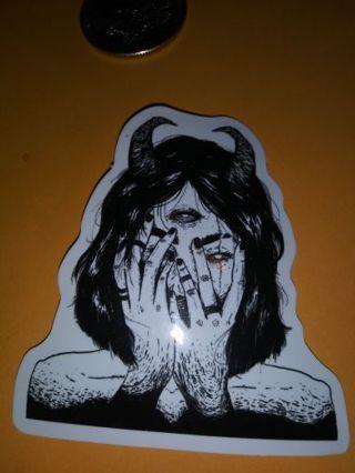 Black very cool vinyl sticker no refunds regular mail only