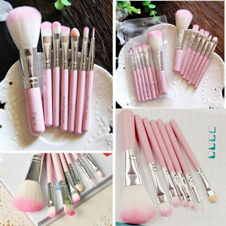 7Pcs Pink Pro Makeup Brush Set Eyeshadow Cosmetic Tools Eye Face Beauty Brushes
