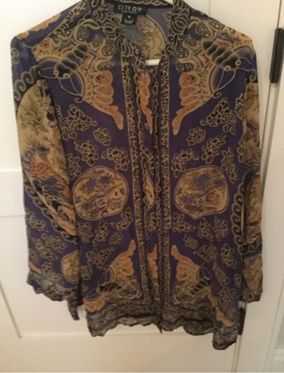 Beautiful Silk Blouse (XL)