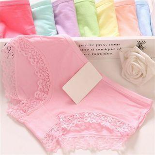 [GIN FOR FREE SHIPPING] 2PCs Women Lace Panties Bikini Lingerie Cotton Underwear