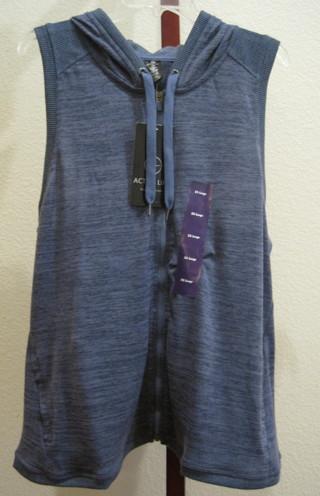 Active Life Women's Hooded Vest XXL Blue Heather NWT