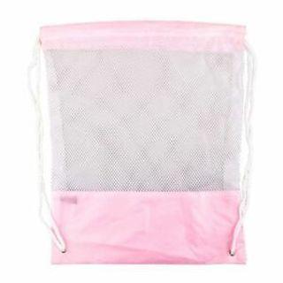 Bag Mesh Bag Drawstring Storage Bag For Tavel Hiking Backpack Beach Bag