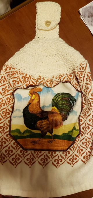 NEW - Kitchen Towel w/rooster print