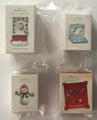 Hallmark Keepsake Ornaments Looking for Santa, Welcome Friends, North Pole Webcam, Department 56 Lot