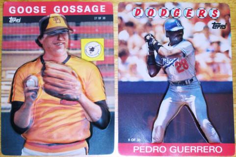 Free 2 1985 86 Topps Plastic 3d Baseball Cards Goose