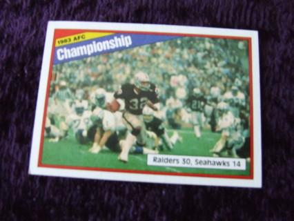 1984 HOFer Marcus Allen Los Angeles Raiders AFC Championship Topps Card #7