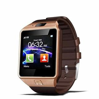 New 2018 Dz09 Bluetooth Smart Watch with Camera for Iphone and Android Smartphones (Gold)