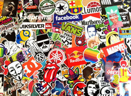 NEW Stickers *Luck of The Draw* NEW Random Pop Culture Stickers Art Music Movies Fashion