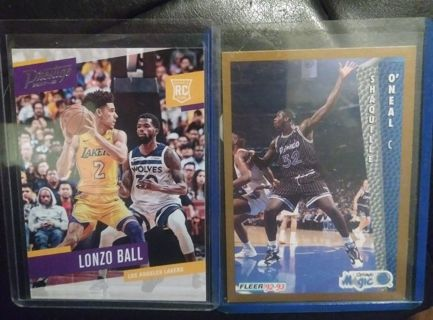 Lonzo Ball and Shaquille Oneal Rookie Cards!