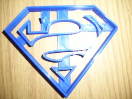 Superman Logo Cookie Cutter -  (3D Printed Plastic)
