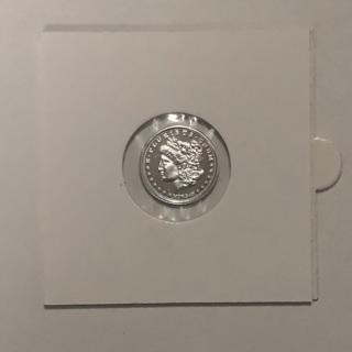1 gram Silver Morgan round .999 pure silver