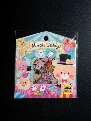 "Crux *Rare*~""Magic Teddy"" Sticker Sack ~ Hard To Find!! **Only Set, Available!!** ☆Kawaii Bonus☆"