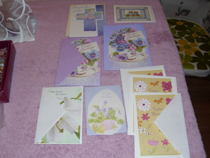 9 Assorted EASTER Greeting Cards Vintage to Now Smoke Free