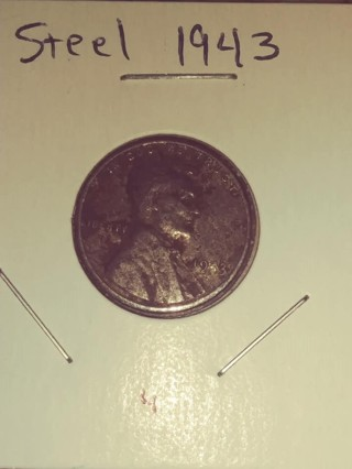 1943 Steel Lincoln Wheat Penny! 475