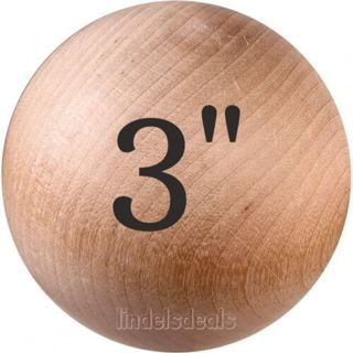 3 INCH Wood Ball Unfinished Solid Hardwood