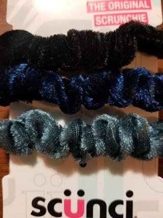 The Original Scrunchie Velvet Hair Tie 3pcs