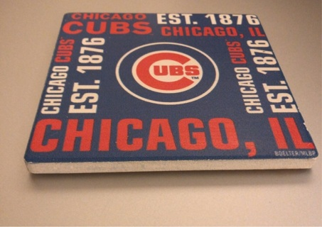 Previously Loved: Major League Baseball Licensed, Chicago CUBS Drink Coaster