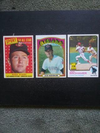 '50's-70's MLB (HOF) Cleveland Indians Lot of 3