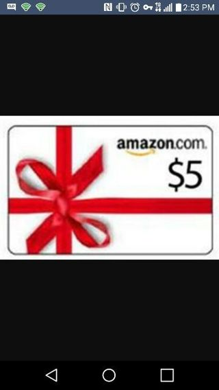 WOW $5 AMAZON GIFT CARD UP FOR GRABS