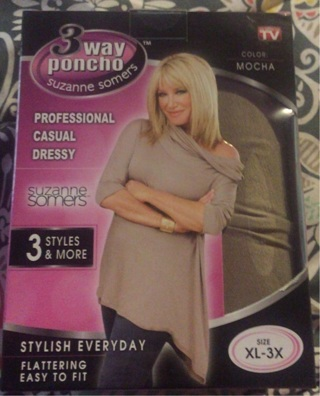 3 way poncho from Suzanne Summers