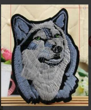 NEW IRON ON PATCH ~ MAJESTIC WOLF BEAUTIFUL NATURE Embroidery Applique Decoration FREE SHIPPING