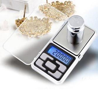 1 NEW 500g/0.1g Digital Electronic Pocket Diamond Jewelry Gold Balance Scale FREE BATTERIES!