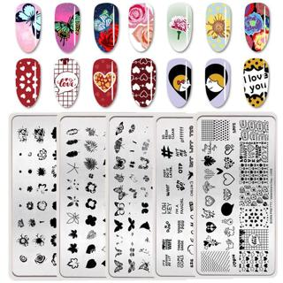 BORN PRETTY Nail Stamping Plates Template Images Overprint Phrase 10 Designs
