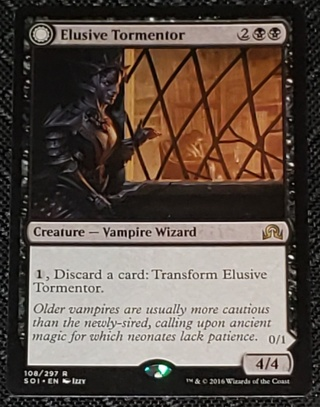 MTG Elusive Tormentor Rare 108/297 Shadows over Innistrad (SOI) Magic  (2016)