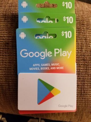 Google play cards $30