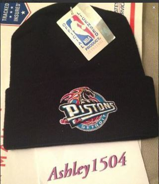 NEW Pistons NBA Basketball Beanie Hat FREE SHIPPING