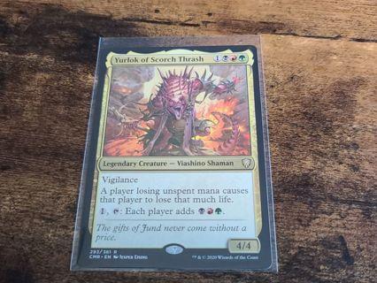 Magic the gathering mtg Yurlok of scorch thrash rare card Commander Legends