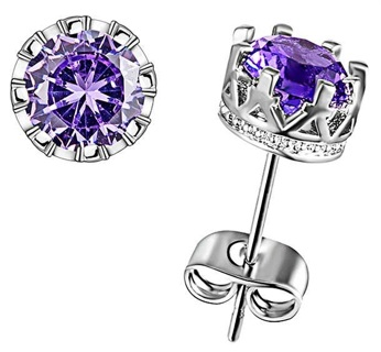 1 pair 3Carat - Gorgeous simulated Diamond Earrings with .925 sterling silver GIN FREE SHIPPING