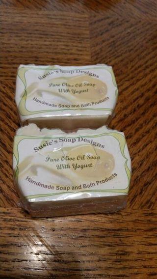 Pure Olive Oil and Greek Yogurt Soap