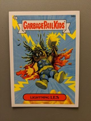 2012 Topps Garage Pail Kids Sticker Card #38b • LIGHTNING LES • See Photos