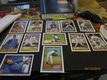 13 old baseball cards