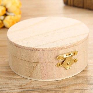 Gift Wooden Box Jewelry Storage Lipstick  Jewelry Box Organizer Wooden Round Box
