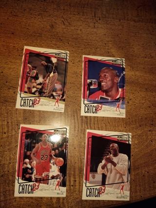 Four Card lot basketball the goat Michael Jordan Chicago bulls the icon