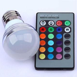E27 3W RGB LED 16 Multi Color Magic Lamp Light Bulb + Wireless Remote Control