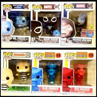 Lot of 6 > mixed authentic pop funko vinyl figures, great condition READ ALL DETAILS!