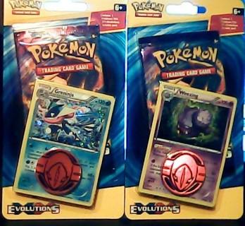 Pokemon Evolutions 2 Blister Booster Packs W/Promos Weezing & Greninja + Flip Coins Sealed 2016