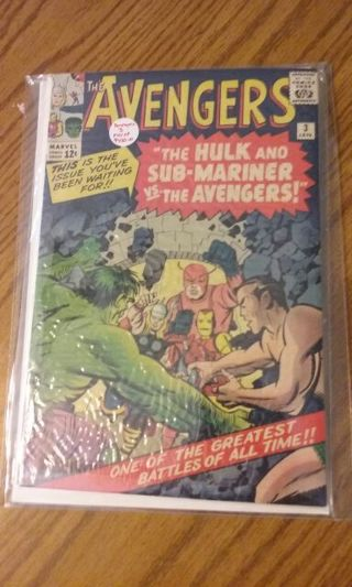 The avengers collectable comic