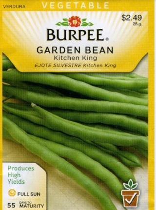 Free 12 Seeds Burpee Kitchen King Garden Bean Gardening Seeds Bulbs Auctions