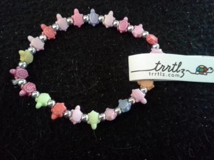 Multi Colored Turtle Bracelet Means Friendship New