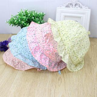 Summer Newborn Baby Girls Kids Princess Infant Flower Sun Cap Cotton Bucket Hat