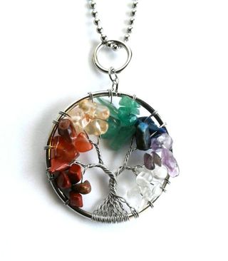 NEW Tree Of Life Natural Stone Chakra Necklace B8
