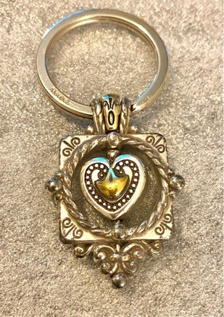 Vintage Brighton Spinning Heart Key Chain