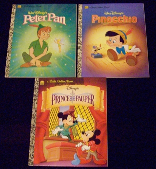 Little Golden Books - Peter Pan, Pinocchio and The Prince and the Pauper