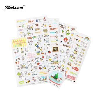 6 Pcs/lot Cute Kawaii Transparent Pig Korean Cartoon Animals Decoration Flake Pvc Plastic Sheet Sc