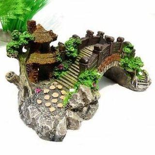 Ornament Photography Prop Decoration Fish Tank Bridge Landscape Tree Aquarium